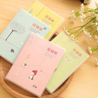 1 X cute little girl notebook diary cash book notepad kawaii stationery school supplies gift for kids papelaria