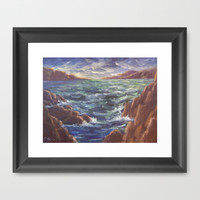 Lighthouse in the Distance AC150426 Framed Art Print by CSteenArt