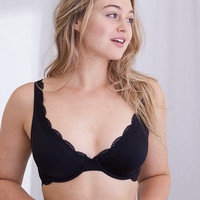 Happy Unlined Bra , True Black