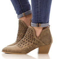 Bombshell Bootie - Taupe