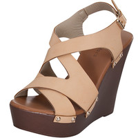 Keep Moving Wedge - Beige - FINAL SALE