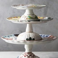 Unlikely Symmetry Cake Stand by Anthropologie in Multi Size: