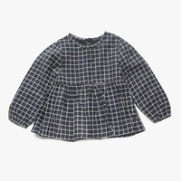 Vierra Rose Lyla Checkered Top in Midnight Blue - FINAL SALE