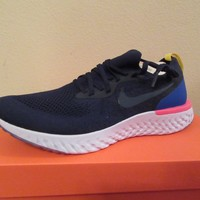 Nike Epic React Flyknit Size 12 College Navy College Navy AQ0067 400 New NIB