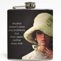 Alcohol Doesn't Solve Any Problems - Funny Flask