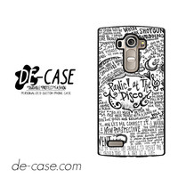 Panic At The Disco Quote For LG G4 Case Phone Case Gift Present YO