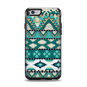 The Vector Teal & Green Aztec Pattern  Apple iPhone 6 Otterbox Symmetry Case Skin Set