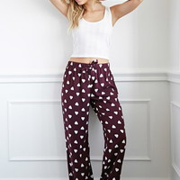 Heart Print PJ Pants