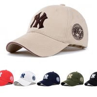 11 Color Yankees Hip Hop MLB Snapback Baseball Caps NY Hats MLB Unisex Sports New York Adjustable Bone Women casquette Men Casual headware