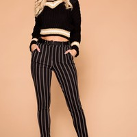 Stand Your Ground Black Striped Pants