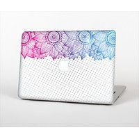 "The Vibrant Vintage Polka & Sketch Pink-Blue Floral Skin Set for the Apple MacBook Pro 13""   (A1278)"