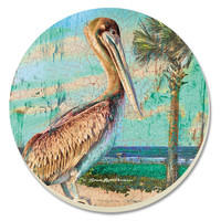 Florida Pelican Absorbent Coasters Set of 4 By Counter Art