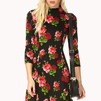 Coming Up Roses A-Line Dress