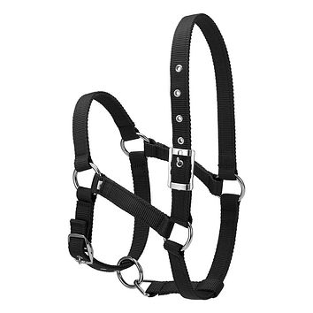 S/M/L 6MM Thick Horse Head Collar Adjustable Safety Halter Bridle Headcollar Horse Riding Racing Equipment Training Rope FREE SHIPPING