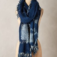 Patchwork Indigo Scarf by Mimbres Blue One Size Scarves