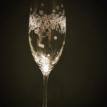 Floral Collection, Champagne Flute