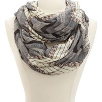 Patterned Chevron Infinity Scarf: Charlotte Russe