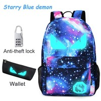 Anime Backpack School Nordshield Students School Backpacks kawaii cute Luminous USB Charge Laptop Computer Backpack For Teenager Boys Anti-theft School Bags AT_60_4