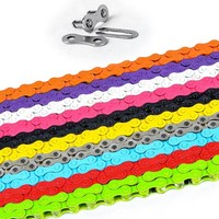 "1 2"" X 1 8"" Single Speed BMX Bike Bicycle Chain with Magic Buckle Fixed gear track bike bicycle chain KMC Z410 98 links"