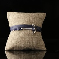 Blue Leather Steel Anchor