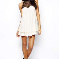 Hollow Bow Lace Dress