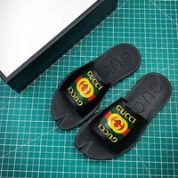 Gucci Leather Slide With Bow Black #2 Sandals - Best Online Sale