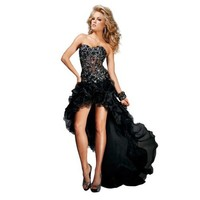 Tony Bowls High Low Dress 11308, Black, 8