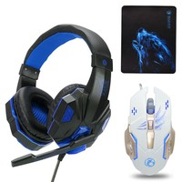 Gaming headphones Earphone Gaming Headsets Headphone Xbox One Headset with microphone led light for pc ps4 playstation 4 laptop