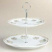 Downton Abbey 2-Tier Serving Stand