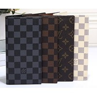 LV fashion leather spell color long wallet[380411936804] F