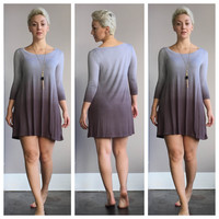 An Ombre Dreams Dress in Grey
