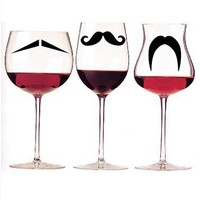 Mustache Party Glass Identifiers Macbook Decal by TheAppleTailor