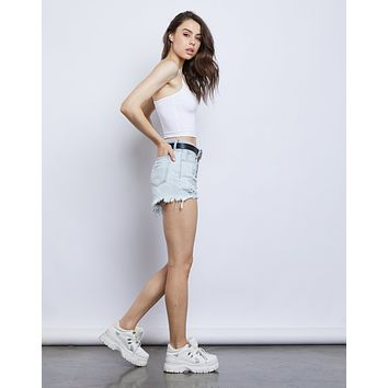 On The Road Denim Shorts