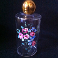 Awesome 1940's hand painted perfume bottle