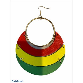 Pan African earrings | Natural hair jewelry | African American Accessories