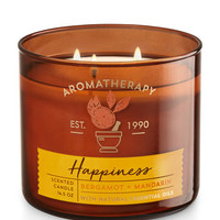 Happiness - Bergamot & Mandarin 3-Wick Candle - Aromatherapy | Bath And Body Works
