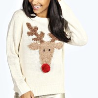 Pam Rudolf Jumper With Pom Nose
