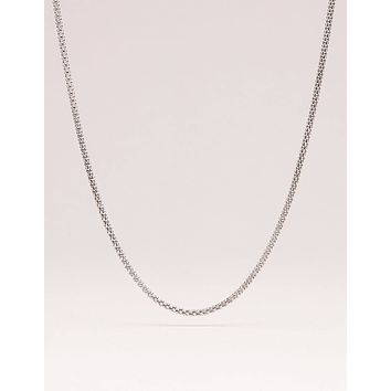 Sterling Silver Rhodium Chain - 18, 24 and 30 Inches