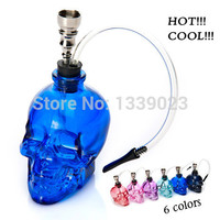 Mini Glass Water Pipe  Skull Style - Multiple Colors