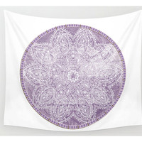 Purple Mandala Tapestry Wall Hanging Meditation Yoga Grunge