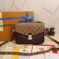 LV Louis Vuitton Fashion Women Shopping Print Leather Satchel Shoulder Bag Handbag Crossbody G