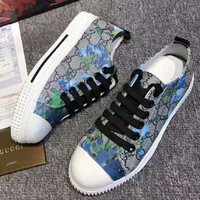 """GUCCI"" Fashion Flats Sneakers Sport Shoes Print Blue flower"