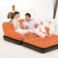 Orange Inflatable Indoor/Outdoor Muti Purpose Sofa Couch Bed Lounge w/ Air Pump