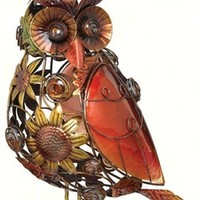 Sunflower Owl Decor