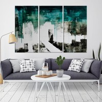 91848 - Extra Large Wall Art Abstract Canvas Print | Framed - Ready to Hang