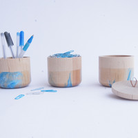 Small Wooden Canister, ICE limited line