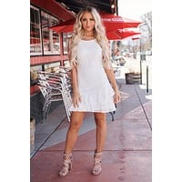 Without A Doubt Lace Dress (Off White)