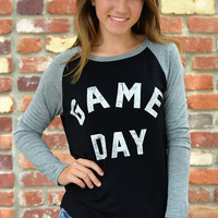 Game Day Top ~ Black