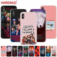 HAMEINUO stranger things cell phone Cover case for iphone X 8 7 6 4 4s 5 5s SE 5c 6s plus