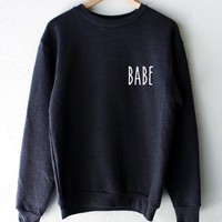 Babe Oversized Sweatshirt